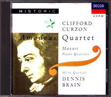Clifford CURZON & Dennis BRAIN: MOZART Piano Quartet 1 2 Horn Quintet CD Amadeus