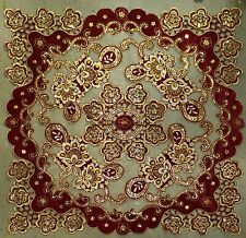 "Table Cloth Runner Beaded Decorative 32"" x 32"" (Code #1235)"