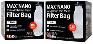 RED SEA MAX NANO 225 MICRON & THIN-MESH FINE POLISH FILTER SOCKS AQUARIUM FISH