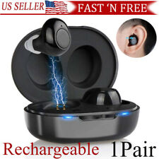 1Pair Rechargeable MIni Hearing Aids In the Ear Amplifier Sound Mini Set NEW