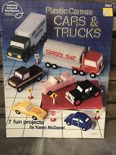 Vintage Plastic Canvas Cars And Trucks Pattern Book Leaflet 7 Projects