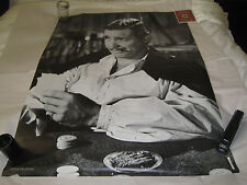 """Vtg Large Poster Clark Gable B&W Personaility Posters Leicester England 29x39"""""""