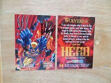 1995 FLEER MARVEL VS DC WOLVERINE CARD SIGNED ADAM KUBERT, WITH POA