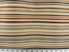 Drapery Upholstery Fabric Railroaded Jacquard Plaid/Check Stripe - Ivory Multi
