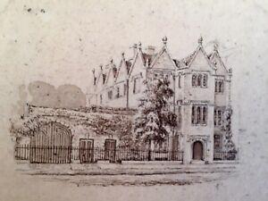 British school antique ink drawing, 19th century