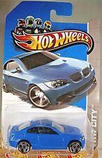2013 Hot Wheels #7 HW City-Street Power BMW M3 Blue Variation w/Chrome Pr5 Spoke