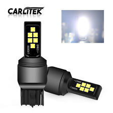 2X White T20 LED 7440 W21W 3030 12SMD Car Turn Signal Brake Reverse Light Bulbs