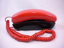 Vintage Working Orange and Black Trimline Telephone Bell Touch Tone Button Phone