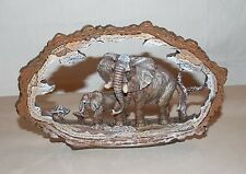 New African Elephant Statue Decoration Wildlife Collectible Safari Frame 7""