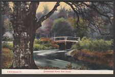 Postcard Queenwood Bower New Forest Hampshire early coloured view FGO Stuart 781