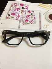 Vintage Black Cat Eye Woman's Eyeglass frame with rhinestones France