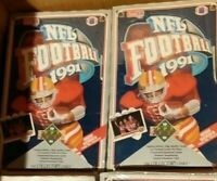 1991 Upper Deck Football Hobby Box FACTORY SEALED, HIGH SERIES FARVE? LOT OF 4