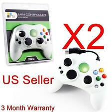 2 LOT NEW WHITE Controller Control Pad for Original Microsoft XBOX X BOX System