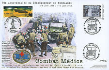 """Maxi FDC """"70 years D-DAY / JEEP WILLYS - U.S. Army Nurse Corps / WWII"""" 2014"""