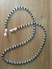 Black beaded cord chain lace lanyard strap string eye magnify reading sunglasses