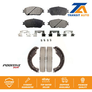 Front Rear Semi-Matllic Brake Pad And Drum Shoes Kit 2005-2006 Toyota Camry