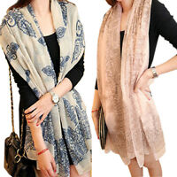 Womens long Wraps Scarf Soft Autumn Winter Scarves Stole Nice Clothing DecorB84U