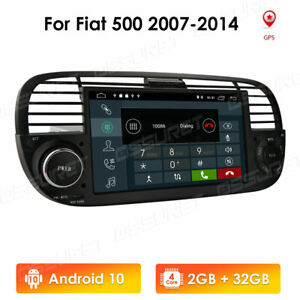 "7 ""Android 10 Autoradio GPS Navi Radio Stereo DSP 2+32GB Carplay für Fiat 500"