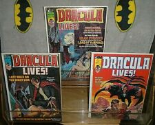 Vintage Dracula Lives Magazine Lot of 3 VG to Very Fine- Condition Monster