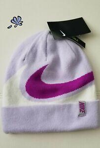 Nike Youth Unisex Beanie Reversible Hat One Size Light Purple