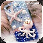Bling Octopus sea star rhinestones Phone Case Cover Various Phone Custom Case