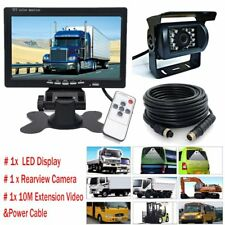 """7"""" TFT LCD Screen Monitor Car Rearview Reverse Back Up Camera Kit 2 Video Input"""