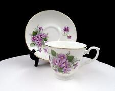 "ROYAL COURT ENGLAND VIOLETS AND GOLD TRIM 2 7/8"" FOOTED CUP AND SAUCER SET"