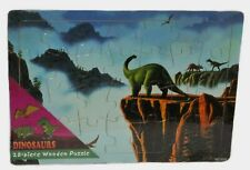 "Dinosaurs Brontosaurus Wooden Tray puzzle 28 Piece Factory Sealed size 10 "" X 7"
