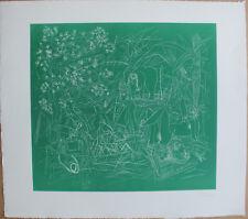 CANE Louis - Gravure etching signée déjeuner sur l'herbe Manet petit tirage *