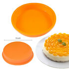 """9"""" Round Silicone Cake Mold Pan Muffin Chocolate Pizza Pastry Baking Tray Mould"""