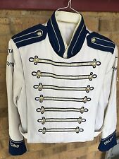 1 Marching Band Uniform White Navy Blue NO TAILS CF Costume sgt pepper  40
