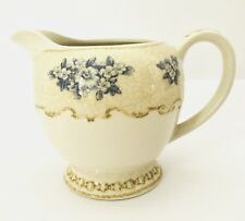Vintage rare Creamer Queens Toile De Jouy HRP China Blue Cream Floral