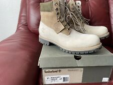 Timberland 6 In Premium Off White Size 11 Water Proof