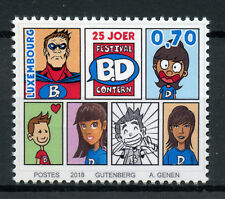 Luxembourg 2018 MNH Comic Book Festival Contern 25 Yrs 1v Set Comics Stamps