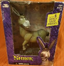 "Mcfarlane Toys, large Shrek Donkey with sound, Action Figure Model 10"" 2001"