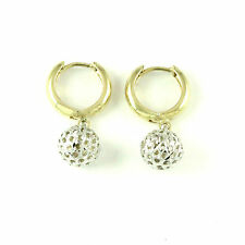 10k Yellow/White Gold drop earring(new, weight: 2.4g)#3160