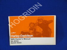 new 1976  AMF Harley Davidson sportster xl 1000 xlch owners manual