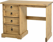 MEXICAN PINE CORONA 4 DRAWER DRESSING TABLE DESK *FREE NEXT DAY DELIVERY