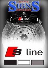 AUDI S Line Logo Premium Brake Caliper Decals Stickers