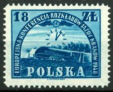 POLAND - POLONIA - 1948 - Conferenza europea per l'orario ferroviario, Cracovia