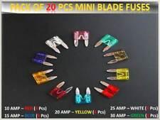 20PCS Ford Coche/Vehículo Fusibles Conjunto Mini Hoja * 10 15 20 25 30AMP*