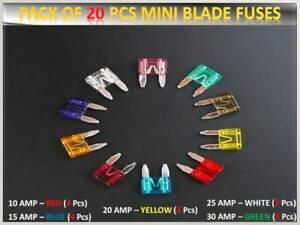 20PCS FORD CAR/VEHICLE FUSES SET MINI BLADE *10 15 20 25 30AMP*