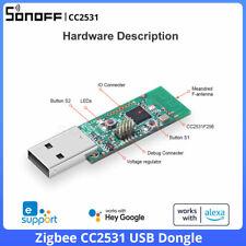 Sonoff ZigBee CC2531 Interfaz USB Dongle Dongle módulo analizador de protocolo de paquetes