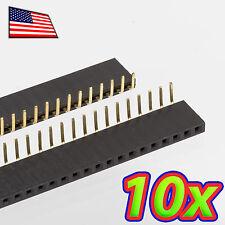 [10x] 1x40 Pin 2.54 mm Right Angle Single Row Female Header Socket - 90 degrees