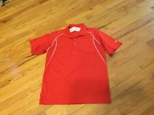 Men's Nike golf shirt size M red short sleeve with collar Dri-fit