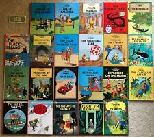 THE ADVENTURES OF TINTIN by Herge Full-size Hardcover Set