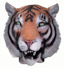 Deluxe TIGER CAT MASK Jumbo Head Latex Rubber Jungle Animal Costume Prop Mascot