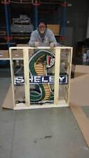 SHELBY COBRA NEON SIGN 42x45x6 True Man Cave ITEM !!  In Stock LOOK !!  HUGE !!