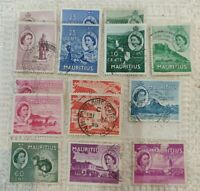 15 X 1950's  Mauritius stamps 10 Different stamp &10 different colours UK #24a