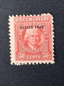 O3/3 US Stamp revenue BOB Documentary Stock 1942 50c Unused NHNGNice Clean Coll
